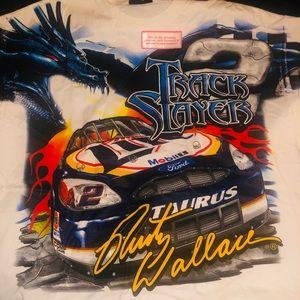 NEW Vintage RUSTY WALLACE NASCAR Print T Shirt XL